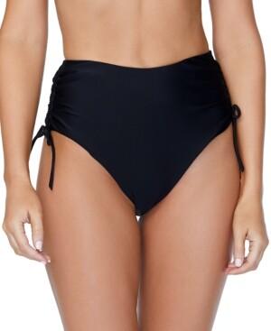 Thumbnail for your product : Raisins Solid High-Waist Isla Tie Bikini Bottom Women's Swimsuit