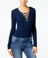GUESS Originals Ribbed Lace-Up Bodysuit