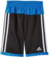 adidas Shot Caller Short (Toddler/Kid) - Black/Blue - 6