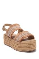 Kaanas Goa Frayed Platform Sandal