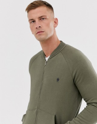 French Connection zip through bomber jacket-Green