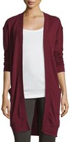 Grey State Oversized Long-Sleeve Cardigan, Mars Red