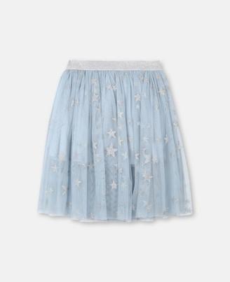 Stella Mccartney Kids Stella McCartney silver stars tulle skirt