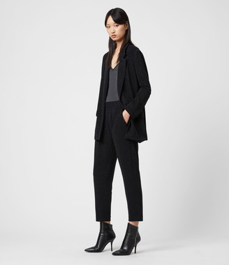 AllSaints Aleida Tapered Low-Rise Shimmer Pants