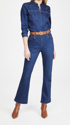 Veronica Beard Jeans Rochelle Front Zip Jumpsuit