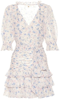 LoveShackFancy Hannah floral silk minidress