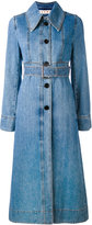 Marni belted denim trench coat - women - Cotton - 38
