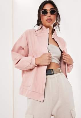 Missguided Blush Twill Windbreaker Jacket