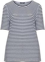 Jette Joop Plus Size Striped linen mix t-shirt