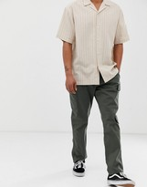 Brooklyn Supply Co. Brooklyn Supply Co slim fit cargo pants in khaki