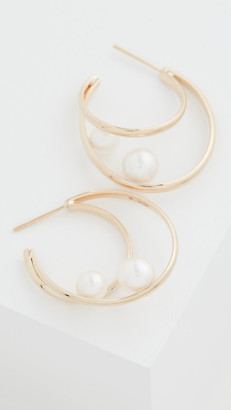 Mizuki 14k Elipse Pearl Earrings
