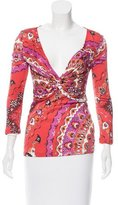 Emilio Pucci Long Sleeve Paisley Print Top