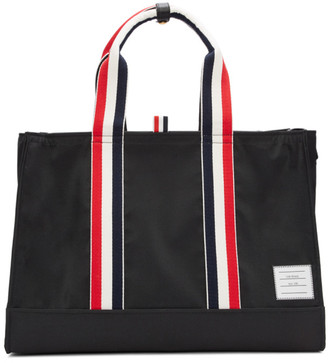 Thom Browne Black Zip-Top East West Tote