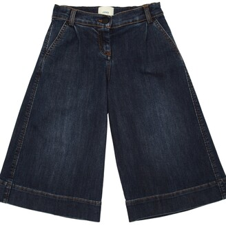 Fendi Stretch Wide Leg Denim Jeans