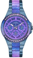 GUESS Blue Steel and Lavender Sport Watch