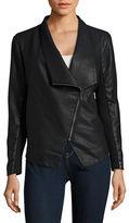 BB Dakota Contrast Faux Leather Moto Jacket