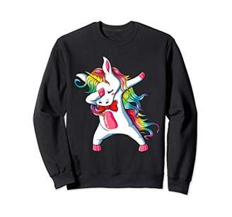 Dabbing Unicorn Shirt Girls Kids Women Gift Rainbow Unicorns Sweatshirt