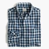 J.Crew Slim heather poplin shirt in blue check
