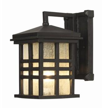 "Millwood Pines Calderon Outdoor Wall Lantern Fixture Finish: Black, Size: 10"" H x 8"" W"