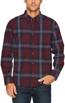 Nautica Men's Long Sleeve Twill Plaid Wrinkle Resistant Button Down Shirt