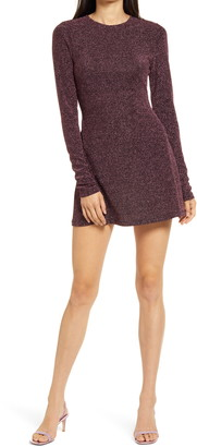 Reformation Riley Long Sleeve Minidress