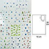 Gelle Christmas Holiday Water Nail Decals Sticker Various Cute Patterns Tips Nail Art Manicure 1 Sheet #02