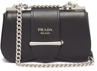 Prada Sidonie Mini Saffiano-leather Shoulder Bag - Black