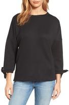 Caslon Tie Sleeve Sweatshirt (Regular & Petite)