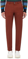 Paul Smith Men's Wool Tapered-Leg Trousers-RED