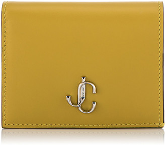 Jimmy Choo HANNE Citrus Smooth Calf Leather Wallet with JC Emblem