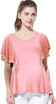 Sweet Mommy Maternity and Nursing Ruffle Sleeve Nursing Top ORL