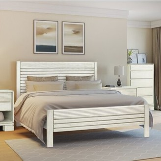 Artefama Vienna Platform Bed Color: Off White, Size: King