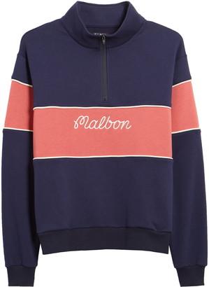 Malbon Collegiate Quarter Zip Fleece Pullover