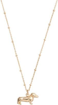 Lauren Conrad Dachshund Pendant Necklace