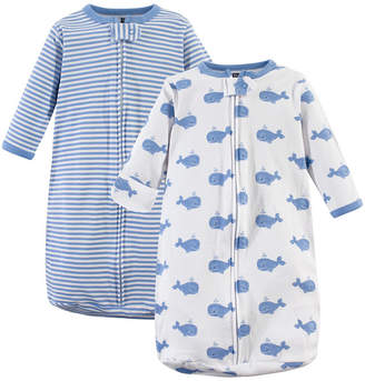 Hudson Baby Baby Boy Long Sleeve Wearable Sleeping Bag/Blanket, 2 Pack
