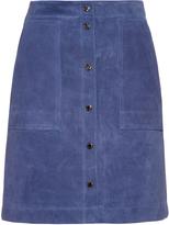 Vanessa Bruno Button-front suede skirt