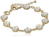 Swarovski Oroclone Crystal Luxe Emerald Cut White Opal Bracelet