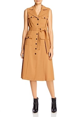 Calvin Klein Cargo Button-Front Midi Dress