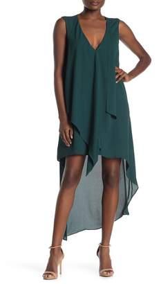 BCBGMAXAZRIA Tara Cascade High/Low Dress