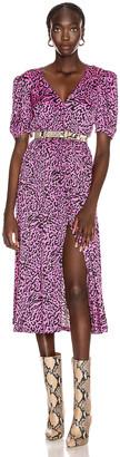 Andamane Cassandra Midi Dress in Leo Fuchsia | FWRD