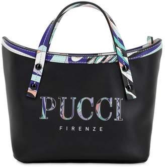 Emilio Pucci LOGO PRINTED LEATHER TOTE BAG