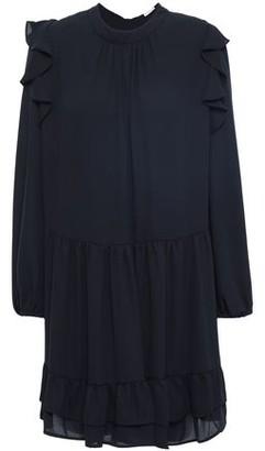 Claudie Pierlot Role Ruffled Crepe De Chine Mini Dress