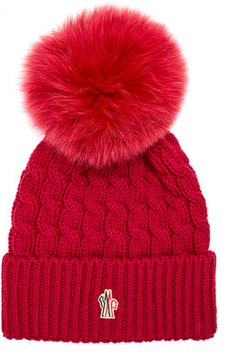 MONCLER GENIUS Knitted Cashmere and Wool Pom Hat