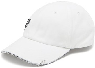 Vetements Anarchy-embroidered Cotton-canvas Baseball Cap - White