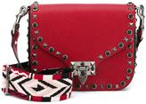 Valentino Garavani Valentino Rockstud Rolling shoulder bag - women - Cotton/Leather/Suede/metal - One Size