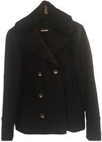 Diesel Black Gold Blue Wool Coat for Women