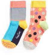 Happy Socks Stripe and polka dot toddler socks 2-pair pack