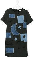 Stella McCartney teen denim dress with patches - kids - Cotton/Polyester/Spandex/Elastane - 16 yrs