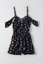 American Eagle Outfitters AE Printed Cold Shoulder Romper