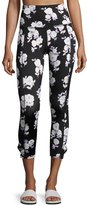 Beyond Yoga x kate spade new york luxe floral cinched side-bow leggings, black